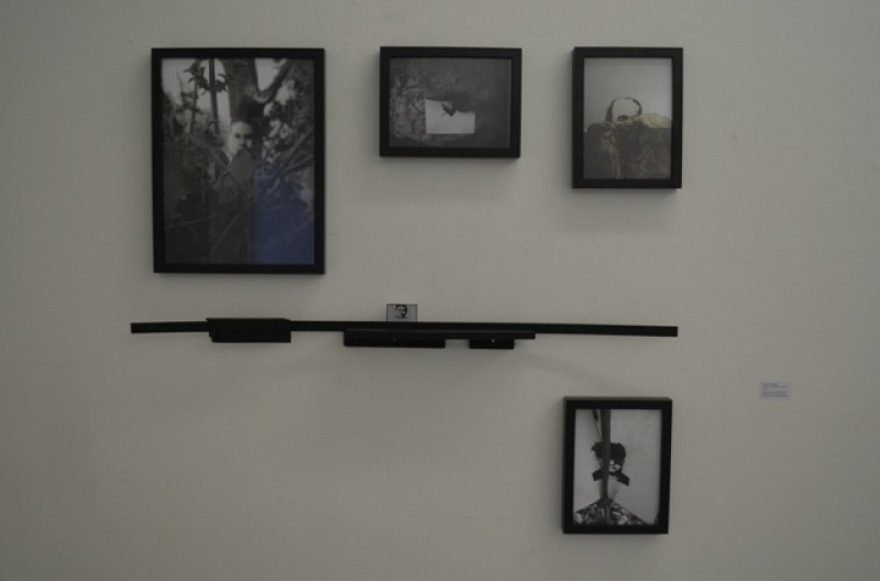 Giorgos Papadatos, Notes on a transitional monument, 2013, Wall-mounted sculpture, photographs