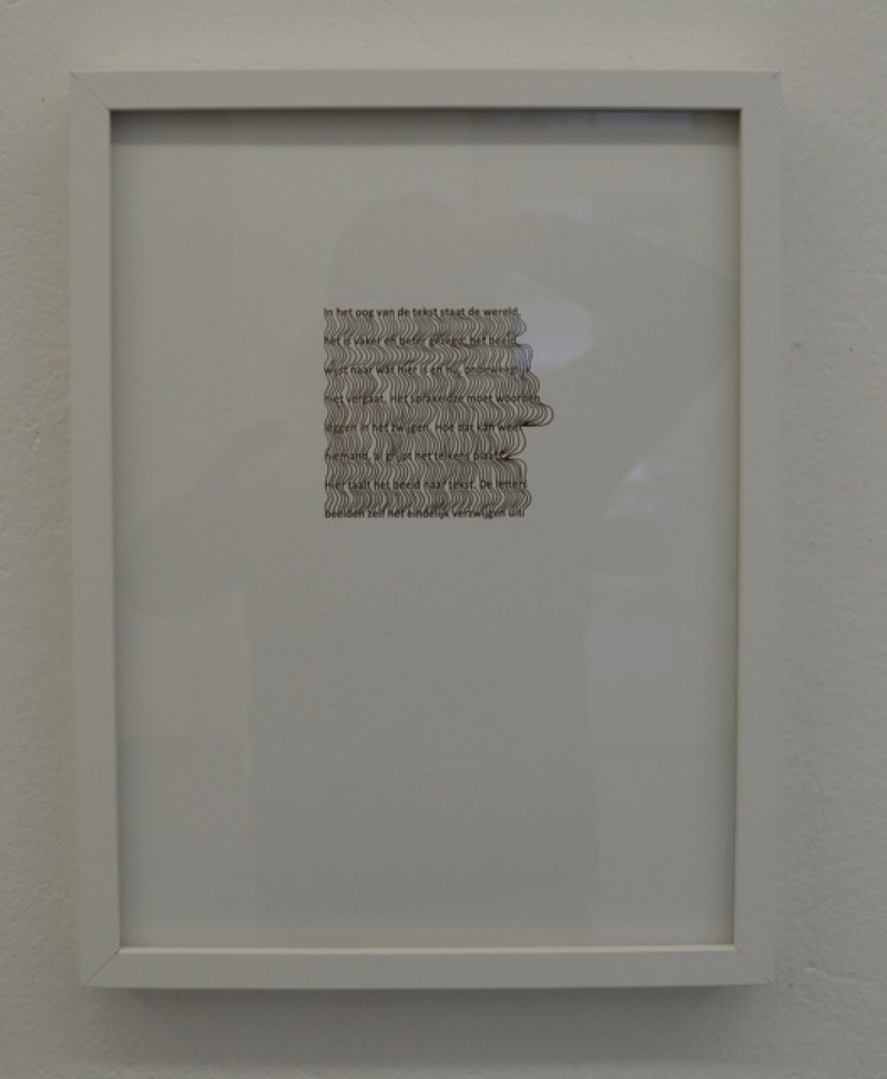 Maria Ikonomopoulou, Text, 2013, Print on Hahnemühle